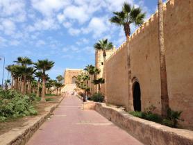 Pohled na kasbah v marockém městě Rabat