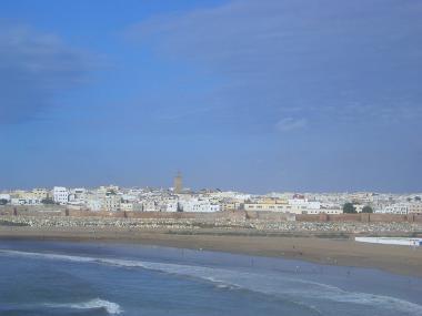 Pohled na město Rabat v Maroko