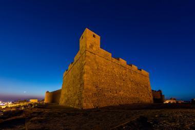 Pohled na pevnost Al Borj el Kebir v Mahdii, Tunisko