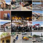 Marocké město Marrákeš s náměstím Djemaa el Fna